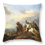 A Battle Throw Pillow