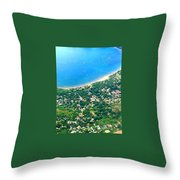 A Bay In Costa Rica Throw Pillow