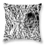 A Bayou Climbing Tree Throw Pillow