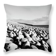 A Beach Of Stones Throw Pillow
