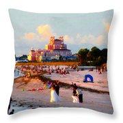 A Beach Scene Throw Pillow