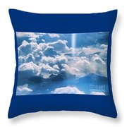 A Beam Of Heavenly Light Throw Pillow