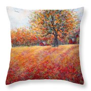 A Beautiful Autumn Day Throw Pillow