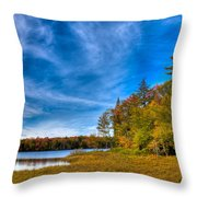 A Beautiful Autumn Day On West Lake Throw Pillow