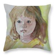A Beautiful Child Throw Pillow