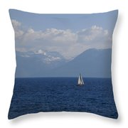 A Beautiful Day For Sailing Throw Pillow