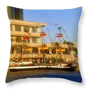 A Beautiful Day In Tampa Bay Throw Pillow