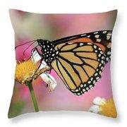 A Beautiful Monarch Throw Pillow