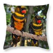 A Beautiful Pair Throw Pillow