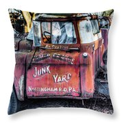 A Beautiful Rusty Old Tow Truck Throw Pillow by Dennis Dame