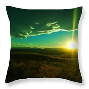 A Beautiful Sunset Throw Pillow