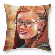 A Beauty Throw Pillow