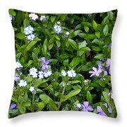 A Bed Of Blooms Throw Pillow