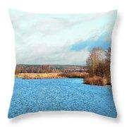 A Bed Of Reeds Throw Pillow