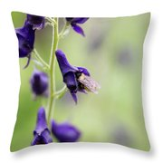 A Bee In Your Monkhood? Throw Pillow