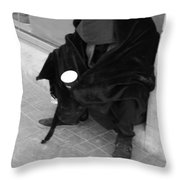 A Beggar In Jerusalem Throw Pillow