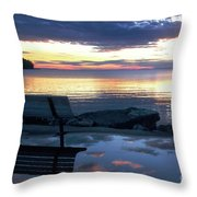 A Bench To Reflect Throw Pillow