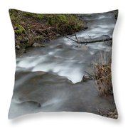 A Bend In The Flow Throw Pillow
