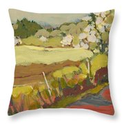 A Bend In The Road Throw Pillow by Jennifer Lommers