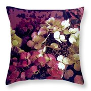 A Bevy Of Hydrangeas  Throw Pillow