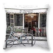 A Bicycle In Paris Throw Pillow