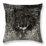 A Big Buck In Rut Throw Pillow
