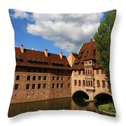 A Big Sky Over Old Architecture Throw Pillow