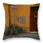 A Bike In Rome Throw Pillow