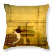 A Bird In New Orleans Throw Pillow