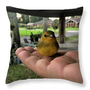 A Bird In The Hand Throw Pillow