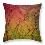 A Bird's Dream Of Summer Throw Pillow