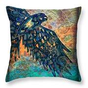 A Bird's Eye View Throw Pillow by Wbk