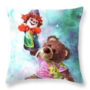A Birthday Clown For Miki De Goodaboom Throw Pillow