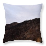 A Bleak Burned Slope In The Foothills Of The Southwest Sierra Nevadas Throw Pillow
