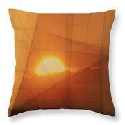 A Blended Sunset   Throw Pillow