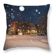 A Blizzard At Bojangles Throw Pillow