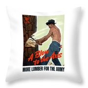 A Blow To The Axis - Ww2 Throw Pillow