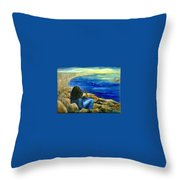 A Blue Day Throw Pillow