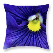 A Blue Pansy Throw Pillow