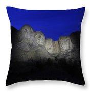 A Blue Rushmore Throw Pillow