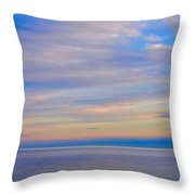 A Blue-tiful Day On Lake Superior Throw Pillow