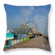 A Boardwalk Throw Pillow