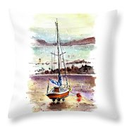 A Boat On Anglesey 01 Throw Pillow