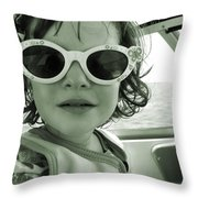 A Boat Ride Throw Pillow