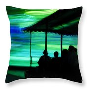 A Boat Ride Through Time Throw Pillow