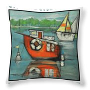 A Boaters Life Poster Throw Pillow