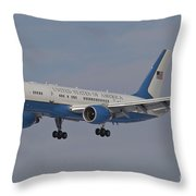 A Boeing C-32a Of The 89th Airlift Wing Throw Pillow