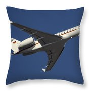 A Bombardier Global 5000 Vip Jet Throw Pillow