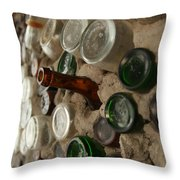 A Bottle In The Wall Throw Pillow