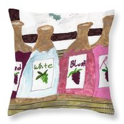 A Bottle Of Red Throw Pillow